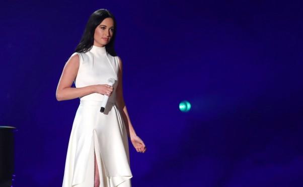 """Mandatory Credit: Photo by Matt Sayles/Invision/AP/REX/Shutterstock (10101166aa) Kacey Musgraves performs """"Rainbow"""" at the 61st annual Grammy Awards, in Los Angeles 61st Annual Grammy Awards - Show, Los Angeles, USA - 10 Feb 2019"""