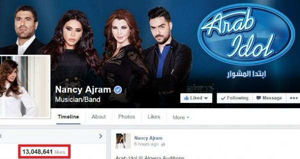 Music Nation - Nancy Ajram - Facebook page - 13 million