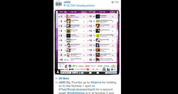 Music Nation -Sabine - OLT20 - Number One - Barkouli Ya Banat  (2)