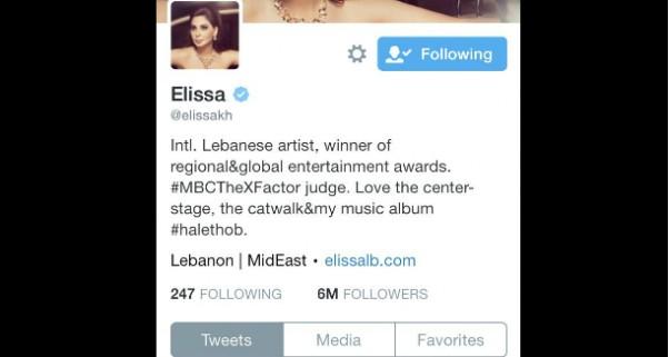 Music Nation - Elissa - 6 Million Followers - Twitter (2)