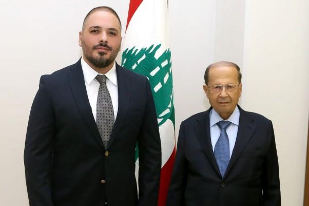 Music Nation - Ramy Ayach - Visit - Lebanese President Michel Aoun (1)