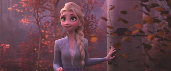"ENCHANTED FOREST -- In Walt Disney Animation Studios' ""Frozen 2,"" Elsa (voice of Idina Menzel) finds herself in an enchanted forest that is surrounded by a mysterious and magical mist. ""Frozen 2"" opens in U.S. theaters on Nov. 22, 2019. © 2019 Disney. All Rights Reserved.."